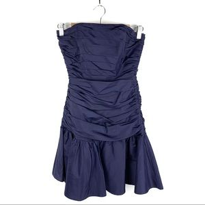 SALE Betsey Johnson Evening Blue Strapless Dress 2